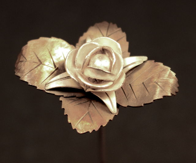 jewel: rose pin